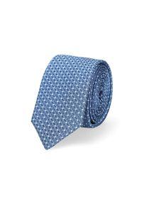 Lancerto - Krawat Błękitny Mikrowzór. Kolor: niebieski. Materiał: tkanina, mikrofibra, materiał. Styl: elegancki