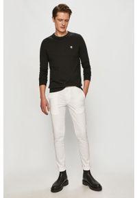 Czarny sweter Calvin Klein Jeans gładki, na co dzień