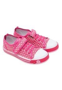 UNDERLINE - Trampki dziecięce Underline 8C181102 Różowe. Zapięcie: rzepy. Kolor: różowy. Materiał: skóra, tkanina, guma