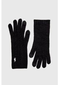 Polo Ralph Lauren - Rękawiczki. Kolor: czarny