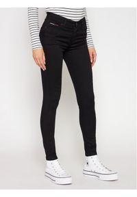 Tommy Jeans Jeansy DW0DW04415 Czarny Slim Fit. Kolor: czarny. Materiał: elastan, poliester, bawełna