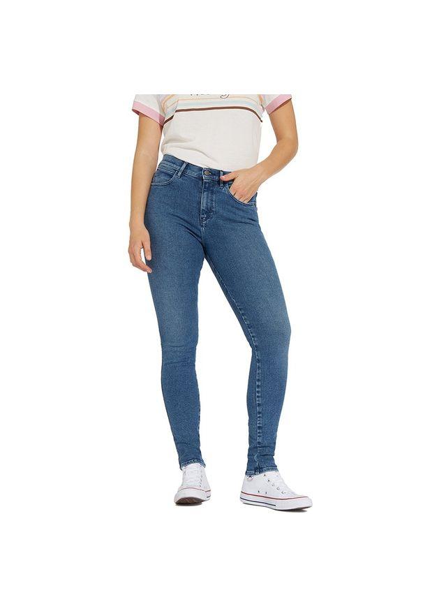 Niebieskie jeansy Wrangler eleganckie