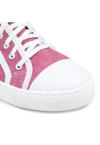Nessi - Tenisówki NESSI - 21021 Róż. Kolor: różowy. Materiał: skóra, materiał. Obcas: na płaskiej podeszwie. Styl: elegancki, sportowy #7