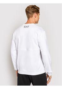 EA7 Emporio Armani Bluza 6KPM68 PJBWZ 1100 Biały Regular Fit. Kolor: biały