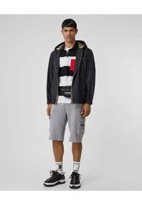 Burberry - BURBERRY - Koszulka Polo w paski. Typ kołnierza: polo. Kolor: czarny. Materiał: bawełna. Wzór: paski. Styl: klasyczny
