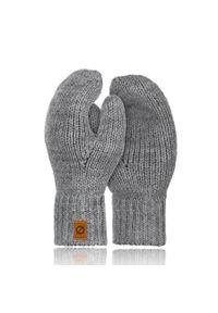 BRODRENE - Rękawiczki damskie zimowe r02 Brodrene R02 j.szary. Kolor: szary. Materiał: materiał. Sezon: zima