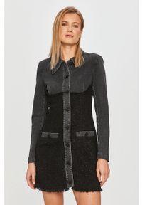 Czarna sukienka Miss Sixty na co dzień, casualowa, mini