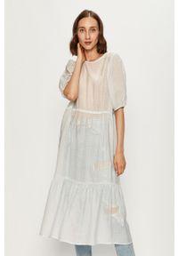 Biała sukienka Levi's® prosta, na co dzień