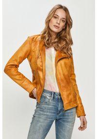Pomarańczowa kurtka Desigual na co dzień, casualowa, bez kaptura