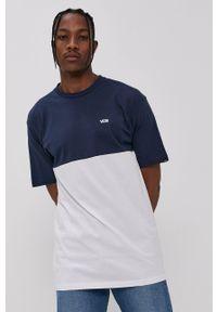 Vans - T-shirt bawełniany. Okazja: na co dzień. Kolor: biały. Materiał: bawełna. Wzór: gładki. Styl: casual