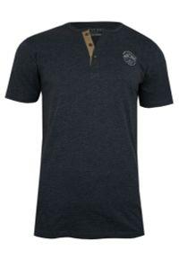 Niebieski t-shirt Pako Jeans krótki, z krótkim rękawem, na co dzień, z dekoltem w serek