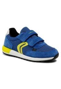 Geox - Sneakersy GEOX - J Alben B. A J159EA 01422 C4344 S Royal/Lime. Okazja: na spacer. Zapięcie: rzepy. Kolor: niebieski. Materiał: zamsz, materiał, skóra. Szerokość cholewki: normalna