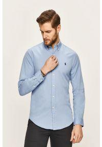 Niebieska koszula Polo Ralph Lauren casualowa, na co dzień, długa