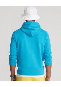 Ralph Lauren - RALPH LAUREN - Turkusowa bluza z kapturem. Typ kołnierza: kaptur. Kolor: niebieski. Materiał: bawełna. Wzór: haft. Styl: sportowy