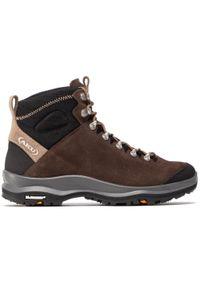 Brązowe buty trekkingowe Aku trekkingowe, z aplikacjami, Gore-Tex