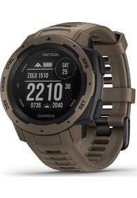 GARMIN - Zegarek sportowy Garmin Instinct Tactical Brązowy (010-02064-71). Kolor: brązowy. Styl: sportowy