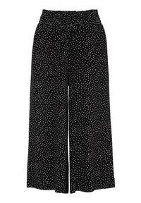 Cellbes Wzorzyste spodnie typu culotte z dżerseju Czarny w kropki female czarny/ze wzorem 38/40. Kolor: czarny. Materiał: jersey. Wzór: kropki
