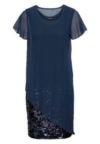 Niebieska sukienka bonprix wizytowa