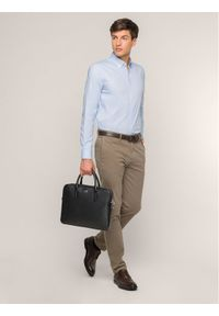 Niebieska koszula biznesowa Lacoste