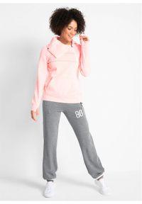 Spodnie sportowe, długie, Level 1 bonprix szary melanż. Kolor: szary. Długość: długie. Wzór: melanż. Styl: sportowy