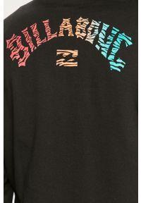 Czarna bluza nierozpinana Billabong na co dzień, z nadrukiem, z kapturem