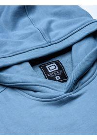 Niebieska bluza Ombre Clothing z kapturem