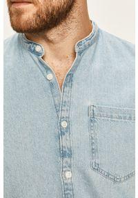 Niebieska koszula Tom Tailor Denim na co dzień, casualowa, ze stójką