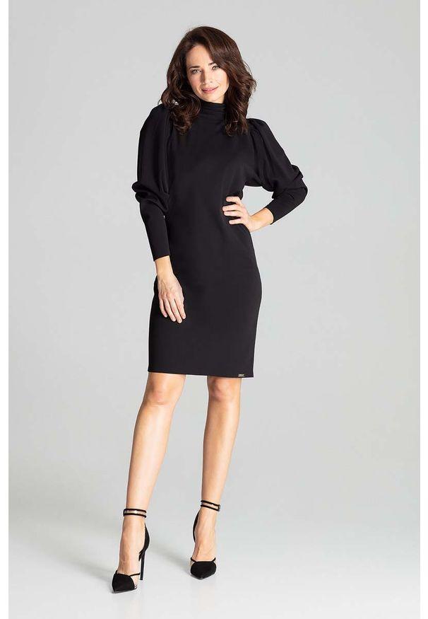 Czarna sukienka wizytowa Katrus