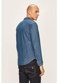 Niebieska koszula Levi's® z klasycznym kołnierzykiem, na co dzień, długa, casualowa