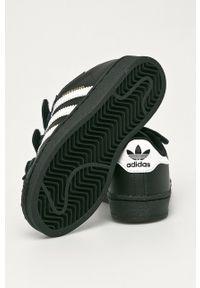 Czarne buty sportowe adidas Originals z nadrukiem, z cholewką