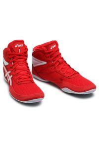 Czerwone buty sportowe Asics