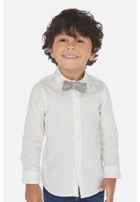 Biała koszula Mayoral na co dzień, casualowa, długa