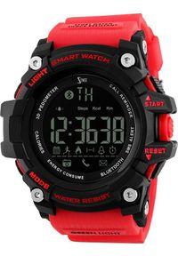 Czerwony zegarek sportowy