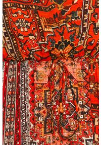 Czerwona sukienka Desigual casualowa, na co dzień, rozkloszowana