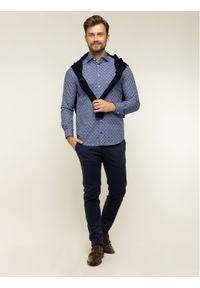 Niebieska koszula biznesowa TOMMY HILFIGER z nadrukiem