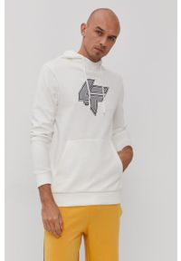 4f - 4F - Bluza. Okazja: na co dzień. Kolor: biały. Wzór: nadruk. Styl: casual