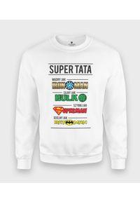 MegaKoszulki - Bluza klasyczna Tata Superbohater. Styl: klasyczny