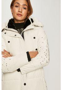 Biała kurtka Desigual z kapturem, na co dzień, casualowa