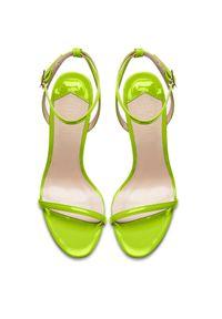FEMME Los Angeles - Limonkowe sandały The Necessary. Zapięcie: pasek. Kolor: zielony. Obcas: na obcasie. Styl: klasyczny. Wysokość obcasa: średni