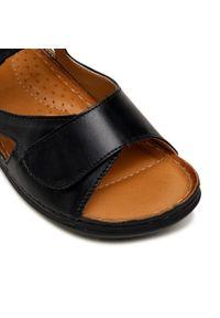Łukbut - Sandały ŁUKBUT - 16420-108 Czarny. Okazja: na co dzień. Kolor: czarny. Materiał: skóra. Sezon: lato. Styl: casual