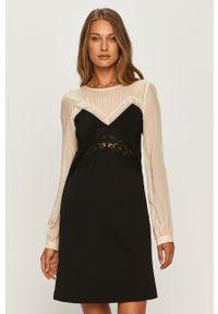Czarna sukienka TwinSet z długim rękawem, na co dzień, casualowa