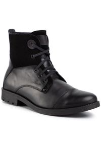 Czarne buty zimowe QUAZI casualowe, na co dzień