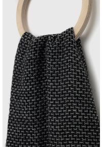 Sisley - Szalik. Kolor: czarny. Materiał: tkanina