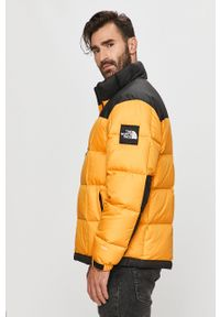 Żółta kurtka The North Face bez kaptura, casualowa, na co dzień