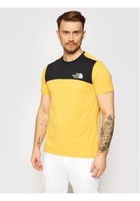 The North Face T-Shirt Himalayan NF0A3XYCLR01 Żółty Regular Fit. Kolor: żółty
