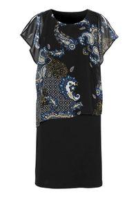 Czarna sukienka Cellbes asymetryczna, z asymetrycznym kołnierzem