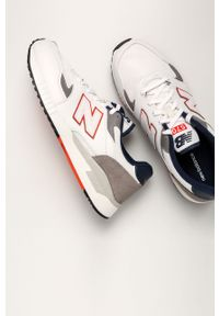 Białe sneakersy New Balance na sznurówki, z cholewką