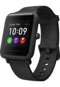 AMAZFIT - Smartwatch Amazfit Bip S Lite Czarny (ZEG-SMW-0068). Rodzaj zegarka: smartwatch. Kolor: czarny