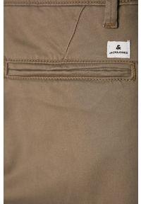 Beżowe spodnie Jack & Jones na co dzień, casualowe
