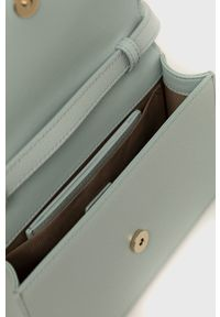 Furla - Torebka skórzana 1927 Mini. Kolor: niebieski. Materiał: skórzane. Rodzaj torebki: na ramię